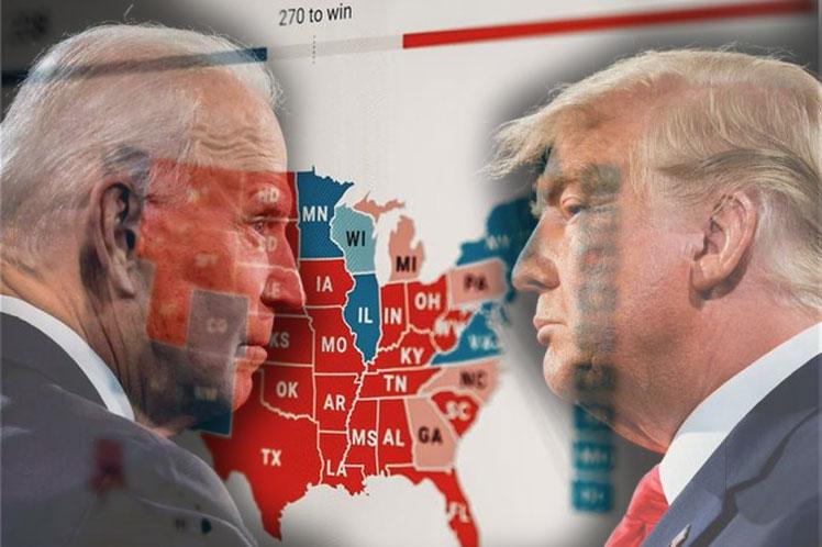 Biden en cerrada lucha con Trump por la Casa Blanca