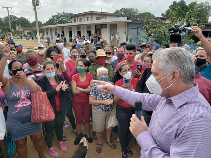 Presidente de Cuba encabeza visita de gobierno a Matanzas (+Fotos)