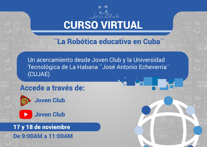 Realizan curso virtual sobre Robótica Educativa