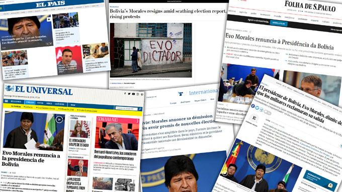 Investigación demuestra complicidad de medios con golpe en Bolivia