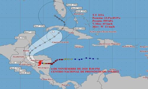 Fase de Alerta Ciclónica para provincias del centro y occidente del país