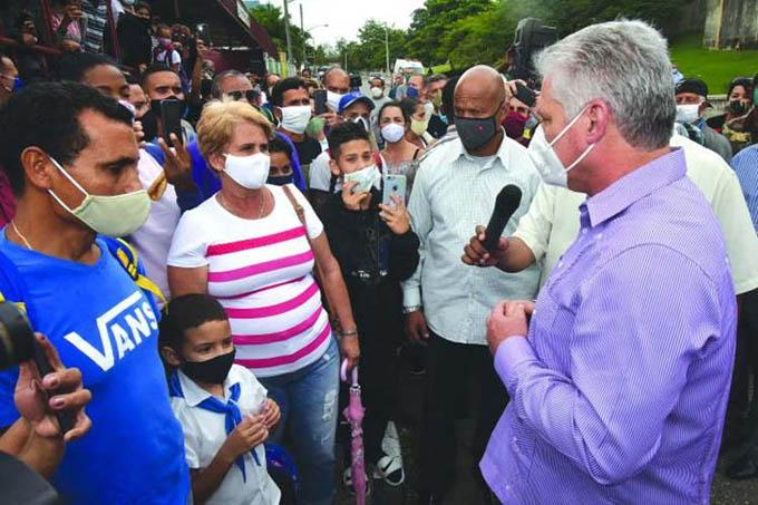 Presidente cubano considera estimulante visita a provincia de Matanzas