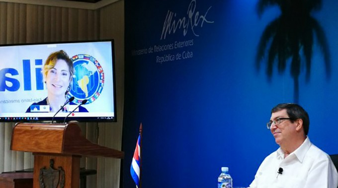 Sostiene canciller cubano reunión virtual con Instituto Italo-Latinoamericano