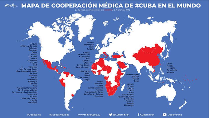 Médicos cubanos han ayudado a combatir la COVID -19 en cuarenta países