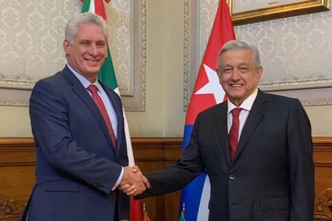 Presidente de Cuba desea pronta recuperación a homólogo de México