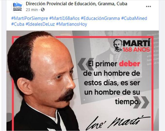 Educación celebra natalicio de Martí