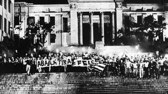 Marcha de las Antorchas 1953, primera batalla de la Juventud del Centenario