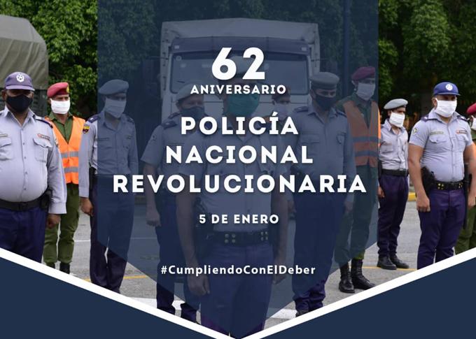 Elogian dirigentes cubanos labor de la PNR en su aniversario 62