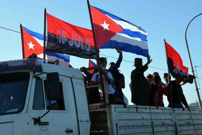 Avanza por Cuba caravana en respaldo a la Revolución
