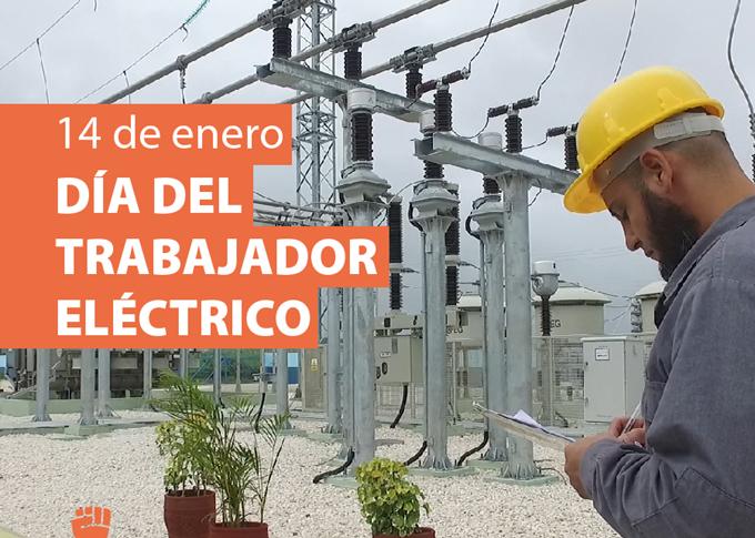 Felicitan a trabajadores del sector eléctrico en su día