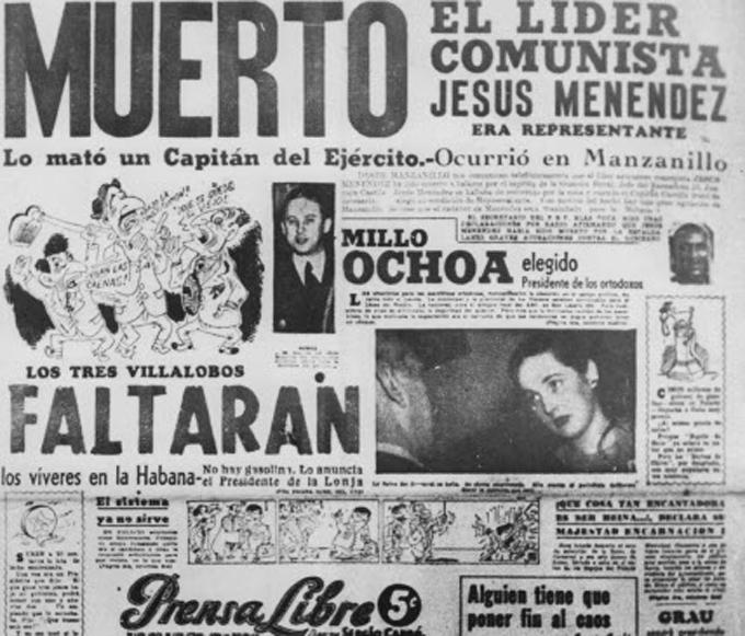 Captura y ajusticiamiento del asesino de Jesús Menéndez