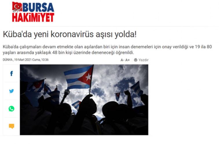 Prensa turca destaca avances de biofarmacéutica cubana