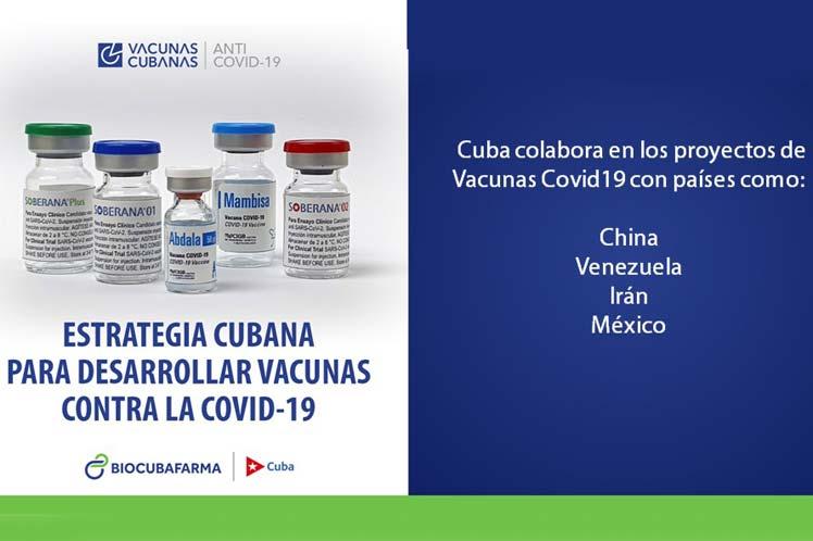 Cuba colabora con varios países en proyectos vacunales antiCovid-19