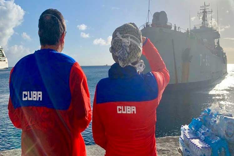 Reafirma Díaz-Canel solidaridad de Cuba con San Vicente (+Foto)