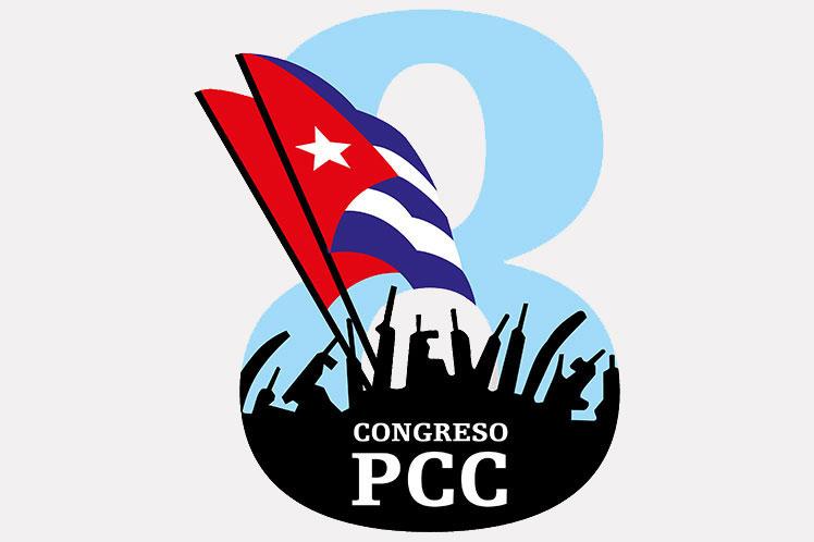 Saluda presidente de Cuba 8vo Congreso de Partido Comunista