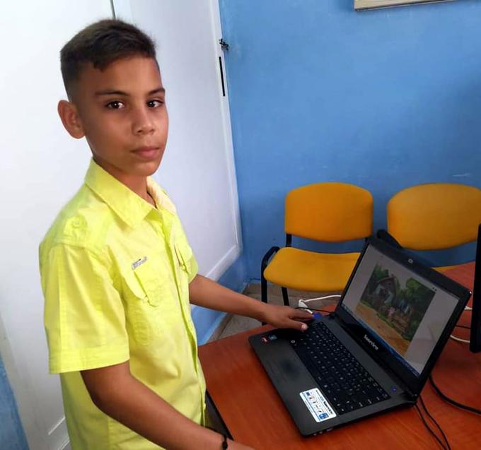 Elabora niño de Jiguaní programa virtual para estimular protección contra la Covid-19