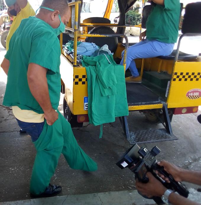 Participan conductores de Taxis Cuba en enfrentamiento a la Covid-19