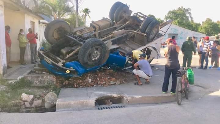 Accidente masivo de tránsito en el municipio de Guisa