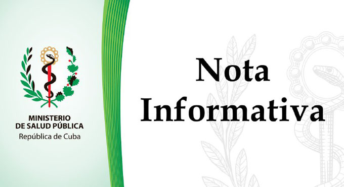 Nota informativa sobre evento reportado en el hospital provincial de Guantánamo