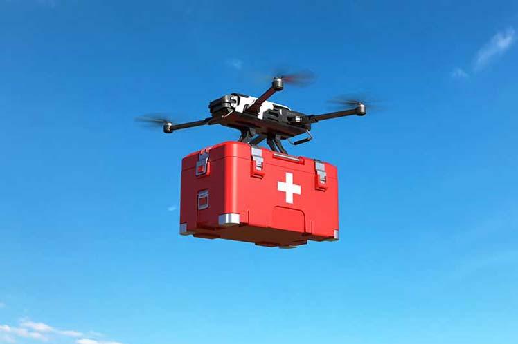 Ciudad de India repartirá medicamentos para Covid-19 mediante drones