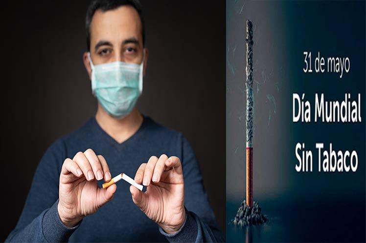 Dejar de fumar y Covid-19 mensajes por Día sin tabaco