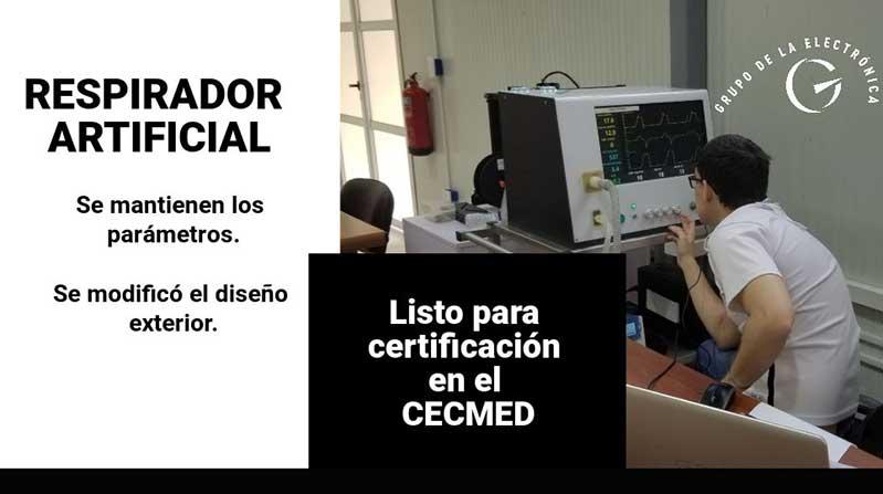 Lista la serie 0 de respirador artificial cubano para su certificación