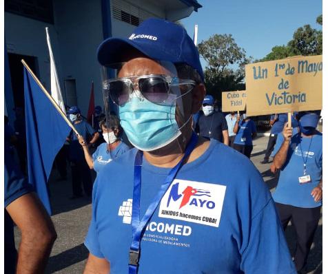 Trabajadores de la industria biofarmacéutica en Granma saludan Primero de Mayo (+fotos)