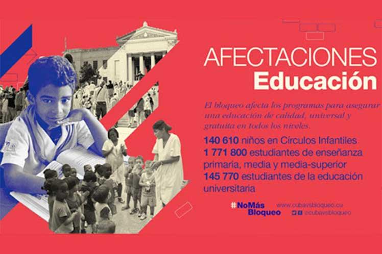 Bloqueo de EEUU afecta a sector educativo en Cuba