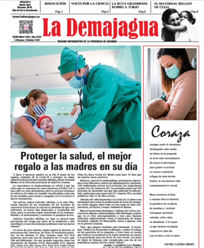 Edición impresa 1542 del semanario La Demajagua, sábado 8 de mayo de 2021