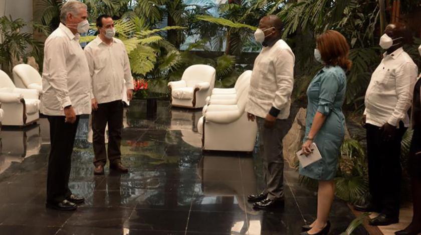 Recibe Díaz-Canel a ministro de Salud de Kenia
