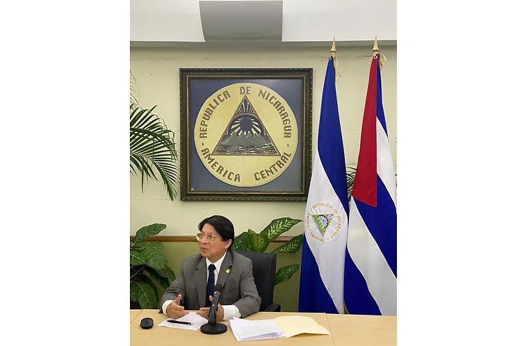 Canciller de Nicaragua expresa apoyo a resolución cubana en ONU