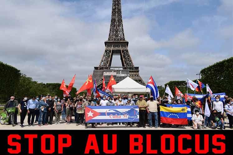 Convocan en Francia nueva movilización contra bloqueo a Cuba (+Foto)