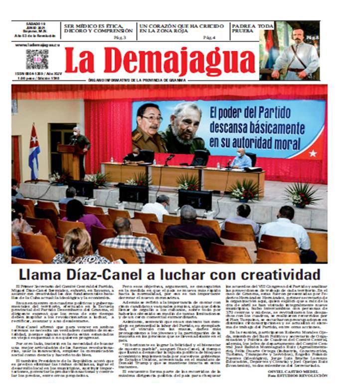La edición impresa 1548 del semanario La Demajagua, sábado 19 de junio de 2021.