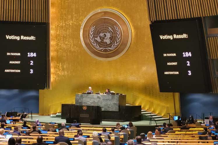 El mundo rechaza en ONU bloqueo de EEUU contra Cuba (+Foto)