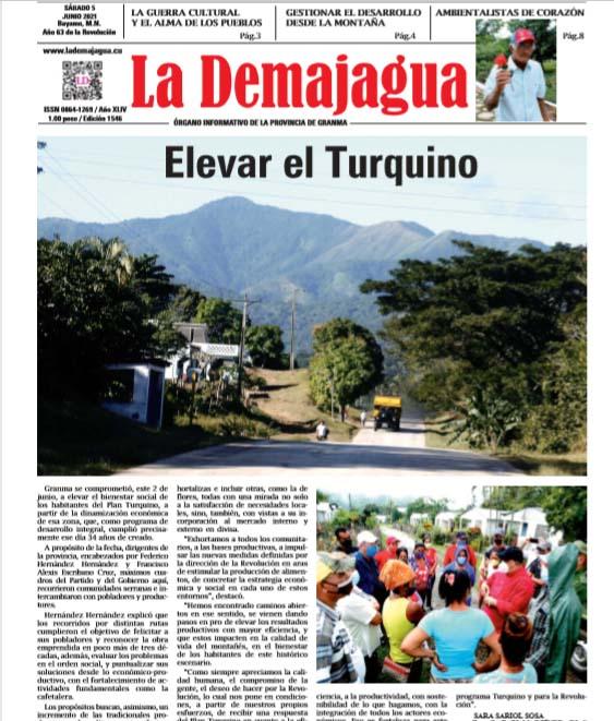 Edición impresa 1546 del semanario La Demajagua, sábado 5 de junio de 2021