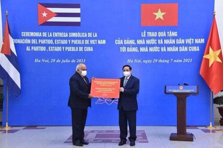 Cuba expresa gratitud a Vietnam por donativo de arroz