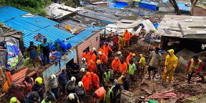Deslaves ocasionan 36 muertos en la India