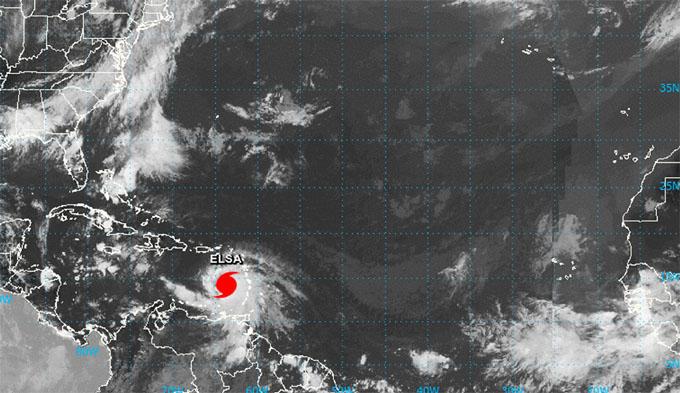 Huracán Elsa gana en intensidad en el Caribe oriental