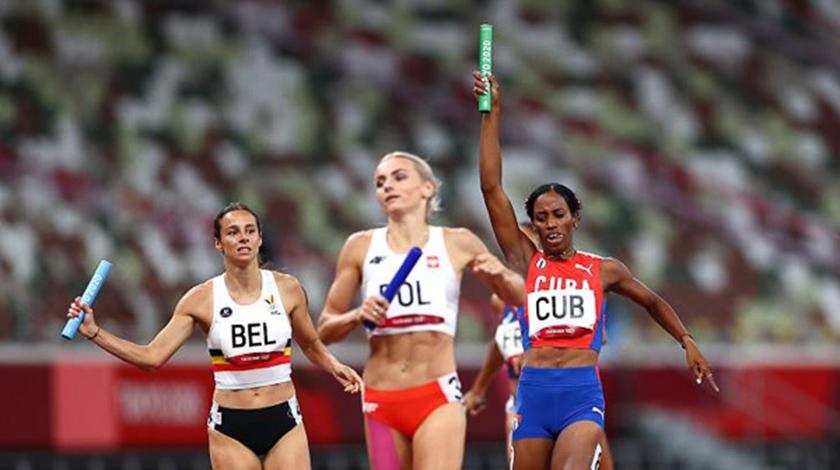 La rápida pista olímpica sonrió al relevo 4×400 de Cuba
