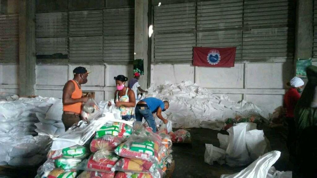 Continúa en el país distribución de donativos de alimentos