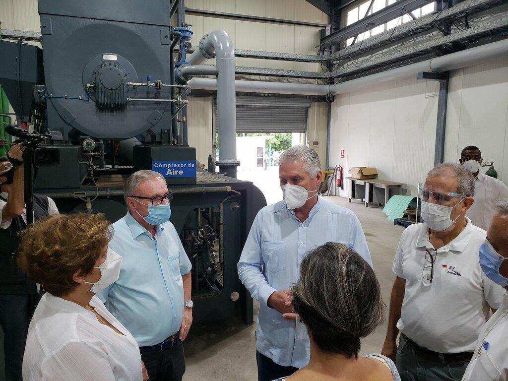 Llama Díaz-Canel a trabajar con agilidad en recuperación de producción de oxígeno