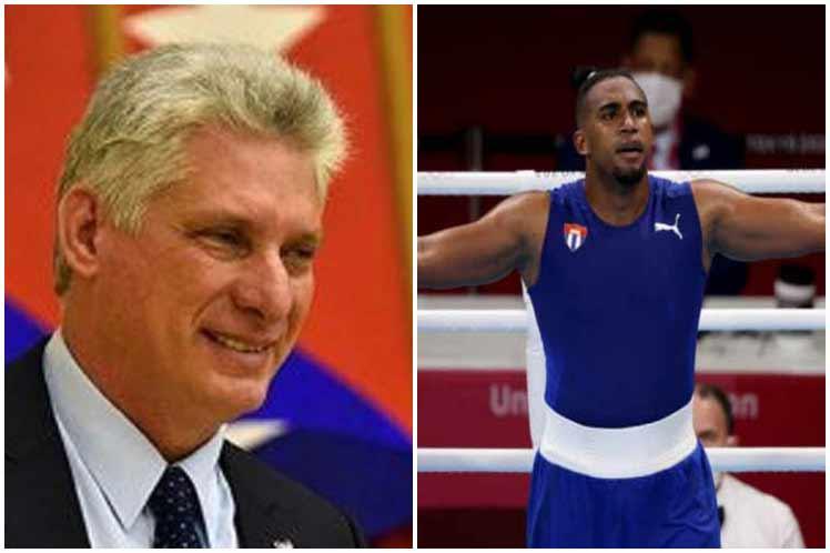 Presidente cubano felicita a ganador de oro olímpico en boxeo