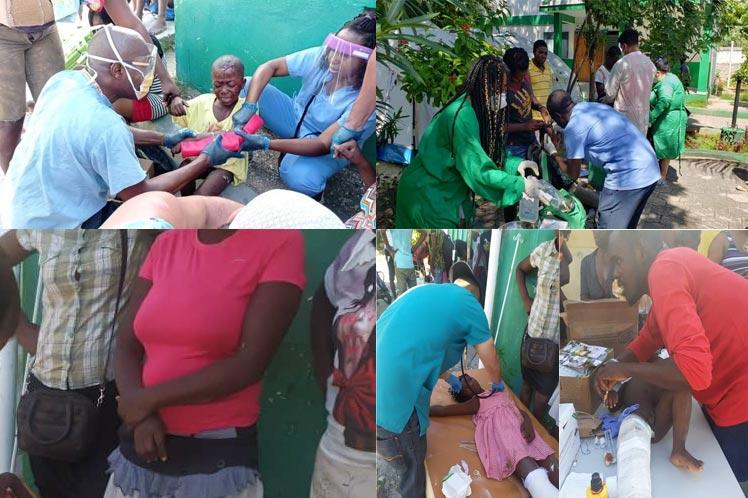 Médicos cubanos atendieron unas 600 víctimas tras terremoto en Haití