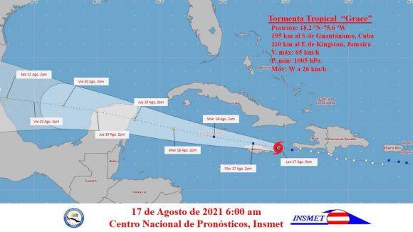 Grace vuelve a ser tormenta tropical