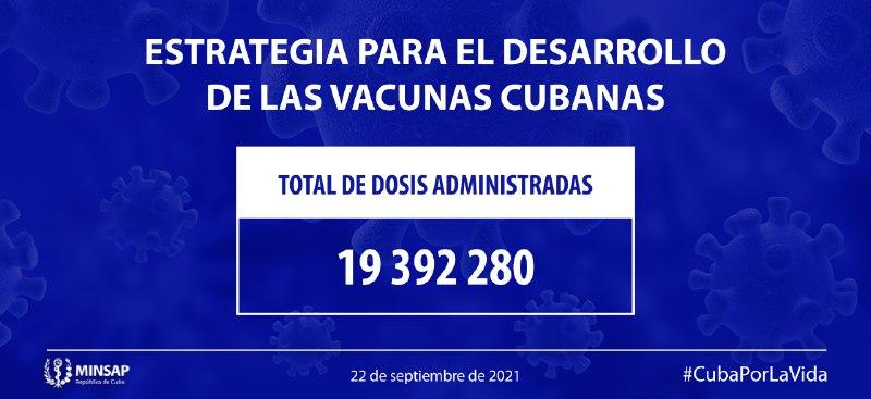 Cerca de nueve millones de cubanos han recibido al menos una dosis anti COVID-19
