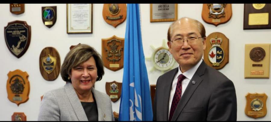 Secretario general de la OMI recibió a representante de Cuba