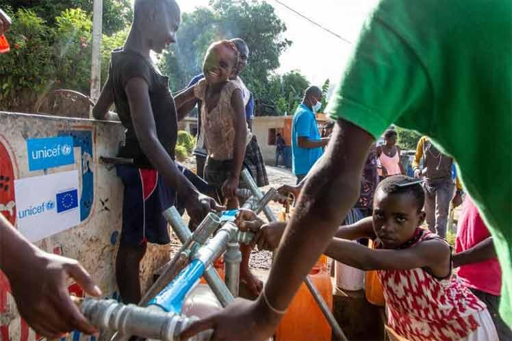 Niños en Haití en riesgo de contraer enfermedades transmisibles