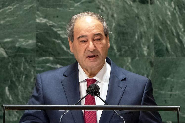 Siria considera terrorismo económico el bloqueo impuesto a Cuba