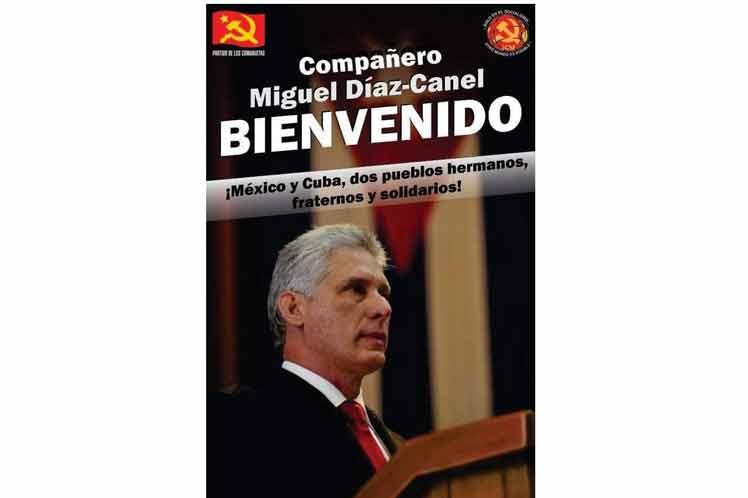 Amplia acogida en México a visita de presidente de Cuba, DíazCanel (+ Fotos)