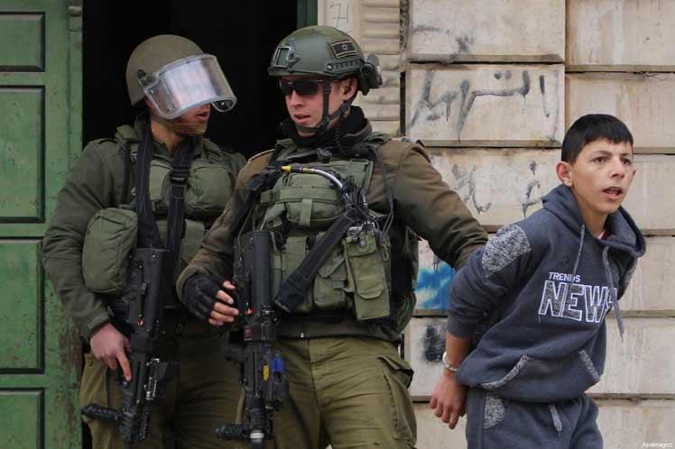 Unos mil jóvenes y niños palestinos arrestados por Israel en 2021